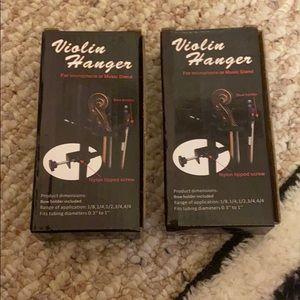Violin hangers!